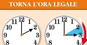 Torna l'ora legale: lancette avanti di un'ora nella notte tra sabato 24 e domenica 25 marzo