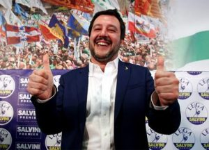 """Governo, Salvini: """"Esecutivo con M5s? 51% di possibilità"""""""
