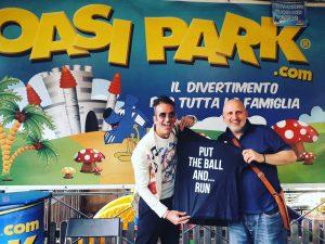 Stefano Bontempi,in arte Seteven B,all'Oasi Park di Roma