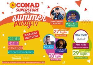 """Grande successo per la prima serata del Summer Party organizzato dal Conad Super store di Nola al ritmo di """"canta,mangia,balla!"""""""