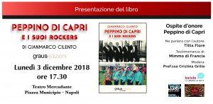 Napoli, Peppino di Capri ospite al Mercadante per la presentazione del libro Peppino di Capri e i suoi Rockers di Gianmarco Cilento