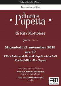 Napoli, al PAN Rita Mottolese presenta il racconto storico-familiare Di nome Pupetta