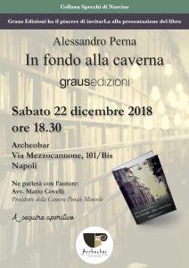 Napoli, da Archeobar la presentazione del libro In fondo alla caverna di Alessandro Perna