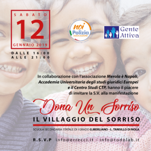 "Hyria Commercial Space & Conad super store di Nola partner ufficiali dell'evento di beneficenza ""Dona un sorriso-Il Villaggio del sorriso"""