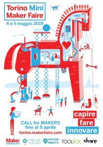 """Il weekend dell'Innovazione """"dal basso"""". Alla Torino Mini Maker Faire oltre 100 invenzioni, attività e un dronodromo all'aperto."""