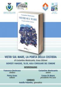 """""""Vietri sul mare, la porta della Costiera"""": Costantino Montesanto presenta il suo ultimo saggio a Vietri sul Mare (9 maggio 2019)"""