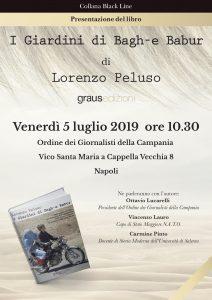 """Lorenzo Peluso presenta """"I Giardini di Bagh-e Babur"""" all'Ordine dei Giornalisti della Campania il 5 luglio 2019"""