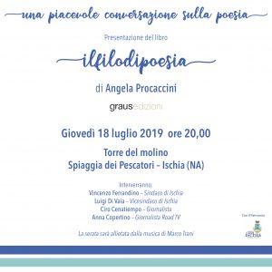 """Angela Procaccini presenterà la raccolta di poesie """"Il filo di Poesia"""" alla Torre del Molino (Ischia)"""