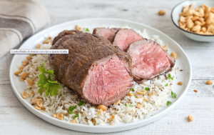 Controfiletto di manzo con riso e spezie: Ingredienti e Preparazione