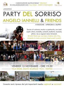 """A Villa Domi """"Party del Sorriso """"Premio Cuore D'oro a Franco Ricciardi e Ciro Verdoliva serata di solidarietà, conAngelo Iannelli"""