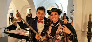 Compleanno  vip  Giornalista Barbara Castellani e il tenore pop Giuseppe Gambi