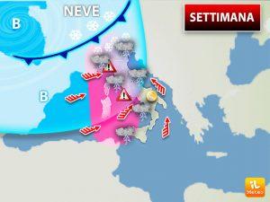 Ancora perturbazioni in questa settimana: in arrivo la neve in alcune zone