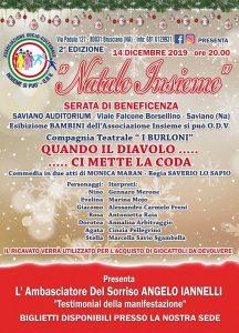 Al via alla II edizione di 'Natale insieme', si terrà il prossimo 14 dicembre all' Audioritorium di Saviano