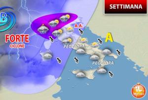 Meteo fino a giovedì 19: in arrivo piogge e peggioramento