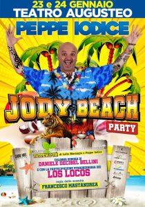 """Peppe Iodice con lo spettacolo """"Jody Beach Party"""" sarà il 23 e 24 gennaio al Teatro Augusteo di Napoli"""