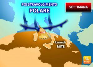Meteo: Dall'alta temperatura al freddo polare