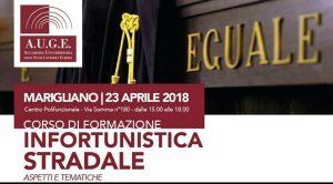 """Corso di Formazione AUGE""""Infortunistica stradale""""con il Prof. Giudice di Pace Esposito Alaia Giuseppe"""