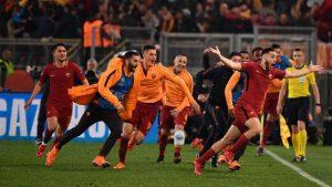 Champions, Roma-Barcellona 3-0: Dzeko, De Rossi e Manolas, notte da sogno