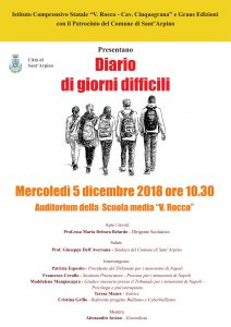 """Sant'Arpino, all'Istituto Comprensivo Statale """"V. Rocco – Cav Cinquegrana"""" Teresa Manes presenta Diario di giorni difficili durante un convegno sul bullismo"""