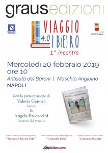 """Napoli, all'Antisala dei Baroni prende il via la IV edizione di """"Viaggio Lib(e)ro"""" con il libro su Napoli di Valeria Genova"""