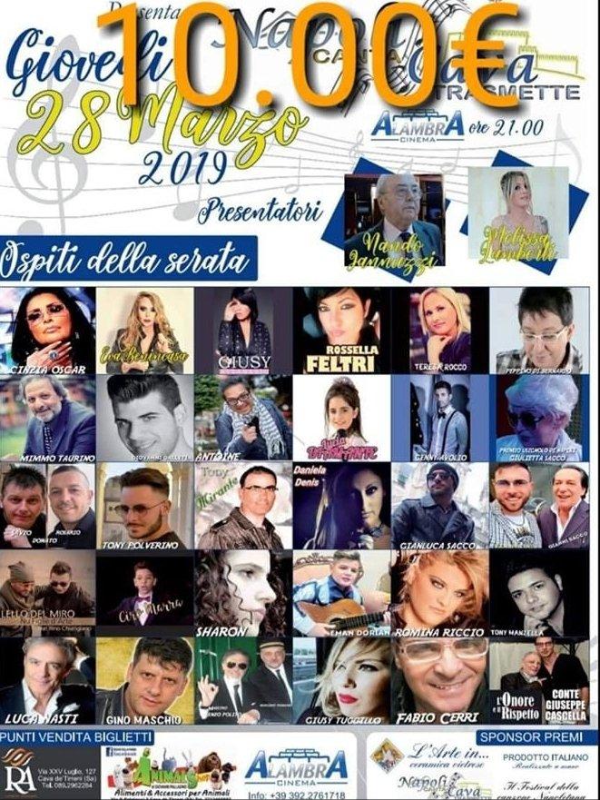 """""""Napoli canta Cava"""": evento spettacolo al Cinema Alambra"""