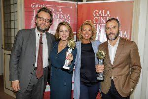 """Nella XI edizione dell' evento """"Galà del Cinema e della Fiction in Campania"""" sono stati premiati Claudia Gerini e Massimiliano Gallo"""
