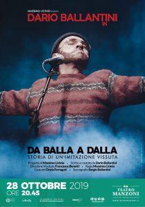 """""""DA BALLA A DALLA"""" Evento in onore di Lucio Dalla, si terrà il 28 ottobre dalle ore 20:45"""