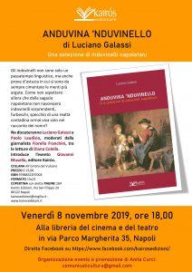 """Si presenta a Napoli il nuovo libro di Luciano Galassi """"Anduvina 'nduvinello"""", edito da Kairòs edizioni"""