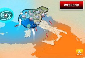 Meteo Weekend: Previste variazioni