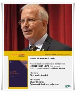 """Hafez Haidar sarà ospite a Bologna presso la libreria 'Nicola Zanichelli' per presentare """"Le Mille e una notte"""""""