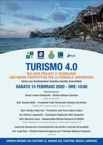 A Massa Lubrense sabato 15 un workshop sulTurismo 4.0