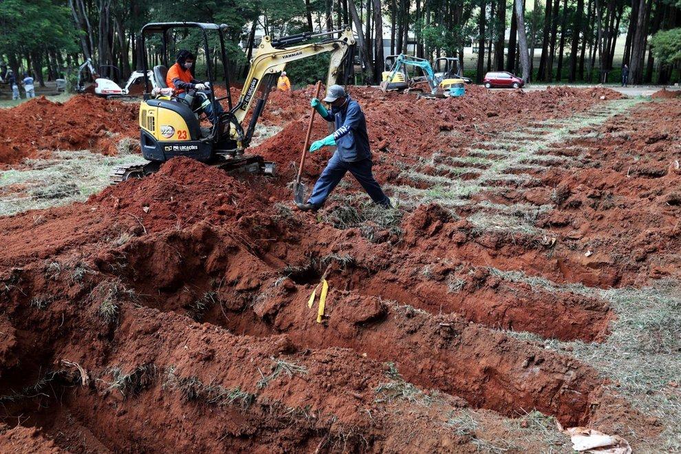 Covid19, in Brasile cimiteri in collasso