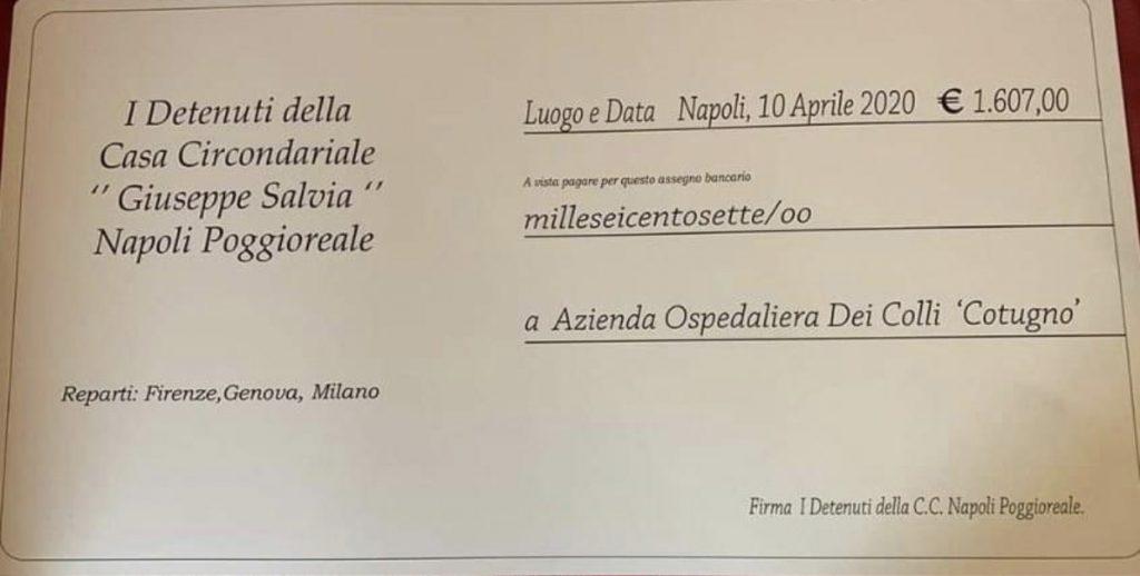 Napoli, la donazione al Cotugno da parte dei detenuti di Poggioreale riceve il plauso anche dai sindacati penitenziari