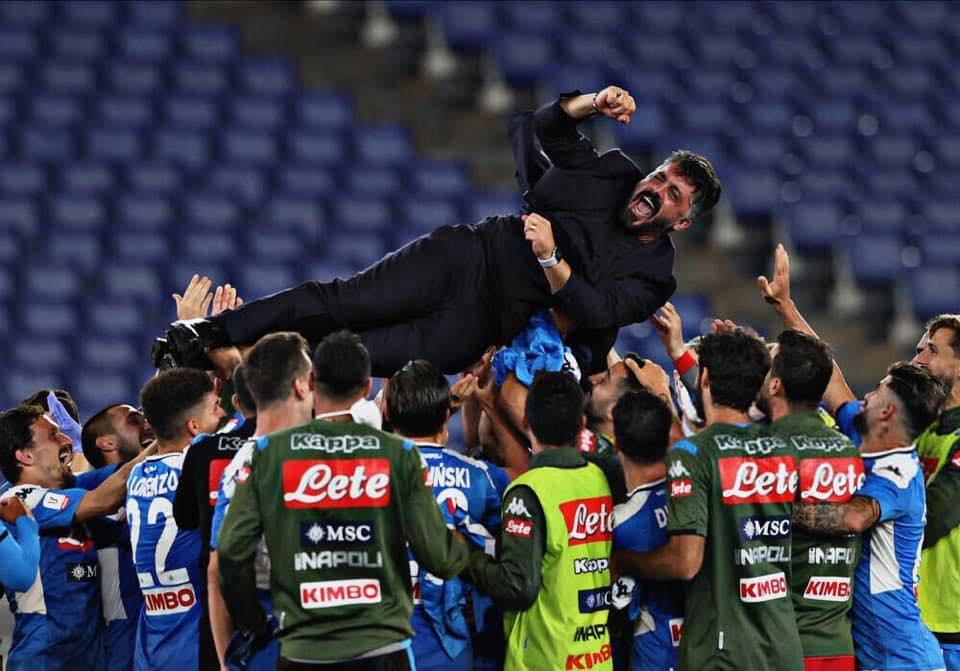 Napoli si tinge del tricolore per la sesta assegnazione della Coppa Italia