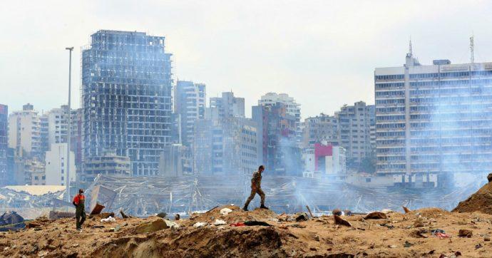 Beirut, dopo l'esplosione, c'è stata una protesta