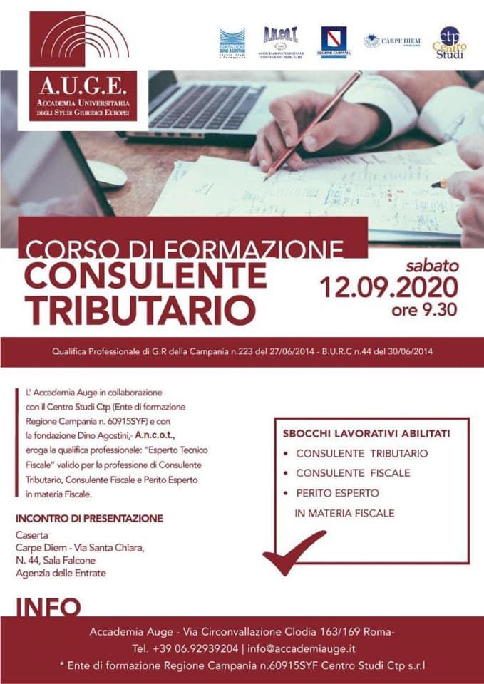 """""""Consulente tributario"""", corso di formazione di AUGE e A.n.co.t"""